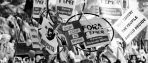 Protest bei Olympia gegen den konservativen Interimspräsidenten Michel Temer in Rio de Janeiro (Foto: Adriano Choque/Mídia Ninja)
