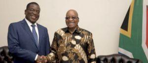 Emmerson Mnangagwa auf Besuch beim südafrikanischen Präsidenten Jacob Zuma (22. November 2017) (Foto: [url=https://www.flickr.com/photos/governmentza/38580145221]GovernmentZA/flickr.com[/url])
