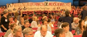 Auch Flüchtlings- und Friedenspolitik wurde thematisiert. (Foto: Ulf Stephan / r-mediabase.eu)