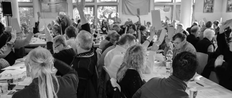 Die Mitglieder der DKP-Bezirke in NRW entschieden am Sonntag, bei den Landtagswahlen anzutreten (Foto: Peter Köster)