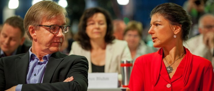 Was will die Linkspartei für die Bundestagswahlen? Die Fraktionsvorsitzenden Dietmar Bartsch und Sahra Wagenknecht (Foto: Die Linke)