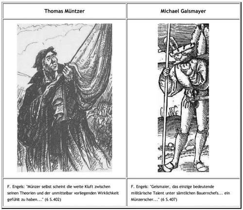 Die beiden Bauernführer Thomas Müntzer und Michael Gaismair waren erklärte Gegner der Geldfälschung und der Wuchergeschäfte und wussten über die kriminelle Energie der Angehörigen der Obrigkeit Bescheid.