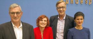 Nach der letzten Bundestagswahl demonstrierte man noch große Einigkeit (Foto: [url=https://www.flickr.com/photos/linksfraktion/36596425394/]Fraktion DIE LINKE. im Bundestag[/url])