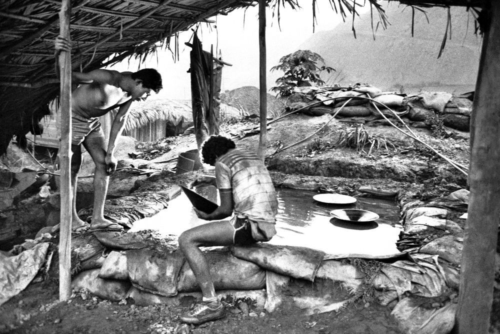 Goldmine in Serra Pelada, Bundesstaat Pará, Brasilien, 1986