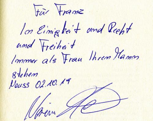 Widmung von Nariman Hammouti-Reinke für den Autor