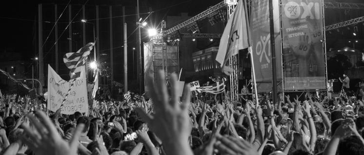 Zwei Tage vor dem Referendum: Demonstration für das 'Nein' auf dem Syntagma-Platz. (Foto: Ggia/wikimedia.org/(CC BY-SA 4.0))