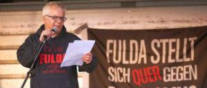 Andreas Goerke auf der Gegenkundgebung am 30.April (Foto: Privat)