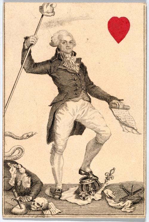 """Die Krone unterm Fuß: Maximilien de Robespierre stand für die konsequenten Revolutionäre, die das Volk nicht """"den Launen des Hofes"""" überlassen und neue Machtorgane schaffen wollten."""