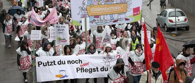 Am 8. März demonstrierten Tausende in Saarbrücken für mehr Personal im Krankenhaus. (Foto: ver.di)