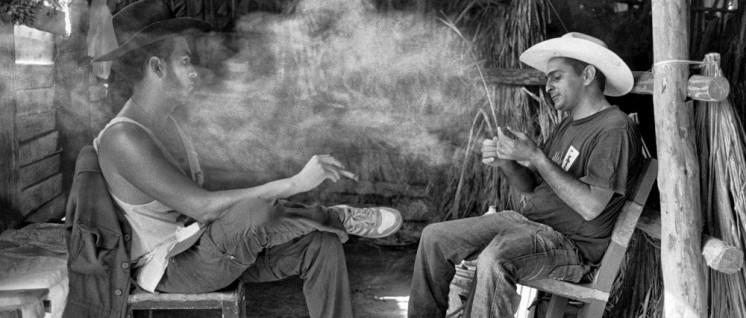 """Tabakschuppen, Finca Rene Rivera, Valle de Viñales, Pinar del Río, 2015 (Foto: Elliott Erwitt, aus """"Cuba"""")"""