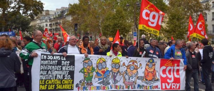 Paris, Oktober 2017: Protest gegen Präsident Macrons neues Arbeitsgesetz (Foto: [url=https://www.flickr.com/photos/jmenj/36910402314/]/flickr.com[/url])
