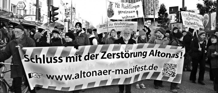 Demonstration gegen die Wohnsituation in Hamburg-Altona (Foto: Rasande Tyskar/flickr.com/CC BY-NC 2.0)