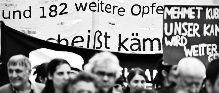 Gedenken am 10.Jahrestag (4.April 2016) der Ermordung von Mehmet Kubasik durch den NSU. (Foto: Uwe Bitzel/r-mediabase.eu)