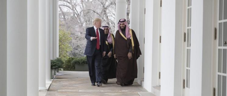 US-Präsident Donald Trump bei einem Treffen mit Mohammed bin Salman bin Abdulaziz Al Saudam im Weißen Haus (14.März 2017, Washington, D.C.). (Foto: Official White House Photo by Shealah Craighead)