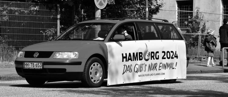 Hamburger Werbung für Olympia. (Foto: Wikimedia Commons, Frank Schwichtenberg)