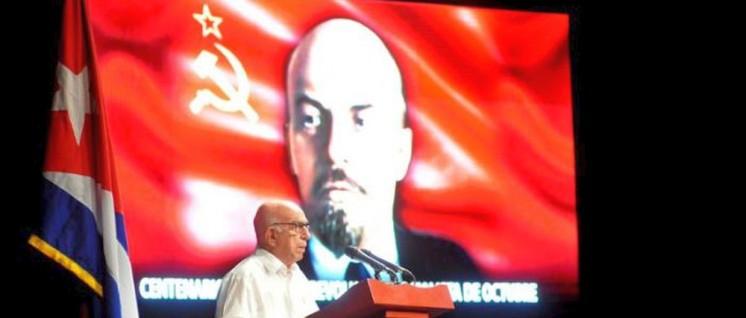 Der Vizepräsident des Staats- und des Ministerrats Kubas, José Ramón Machado, bei der Festveranstaltung in Havanna. (Foto: granma.cu)