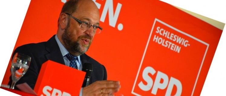 Auf abschüssiger Bahn. Martin Schulz nach der Wahlniederlage in Kiel (Foto: [url=https://www.flickr.com/photos/spd-sh/21487974329]SPD Schleswig-Holstein[/url])