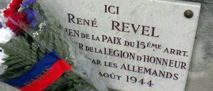 Eine der Gedenkplaketten, die in Paris an die Befreier erinnern.