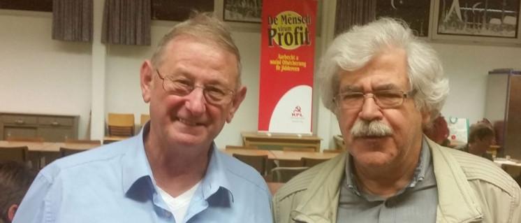 Zufriedene Gesichter am Wahlabend des 17.Oktober 2017: Edmond Pfeiffer und Ali Ruckert, Präsident der KPL (Foto: KPL)