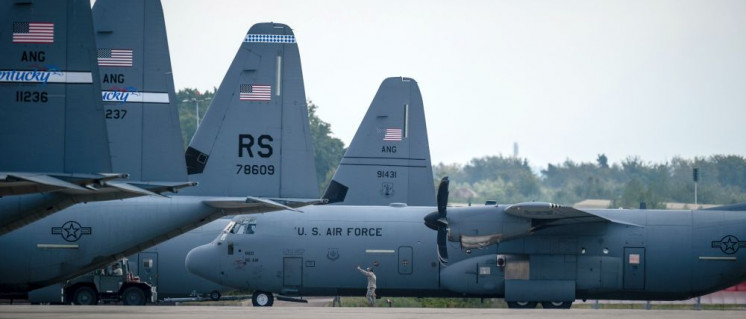 Von der US-Airbase Ramstein aus werden Angriffskriege vorbereitet und durchgeführt. (Foto: U.S. Air Force photo by Airman 1st Class Jordan Castelan/Released)