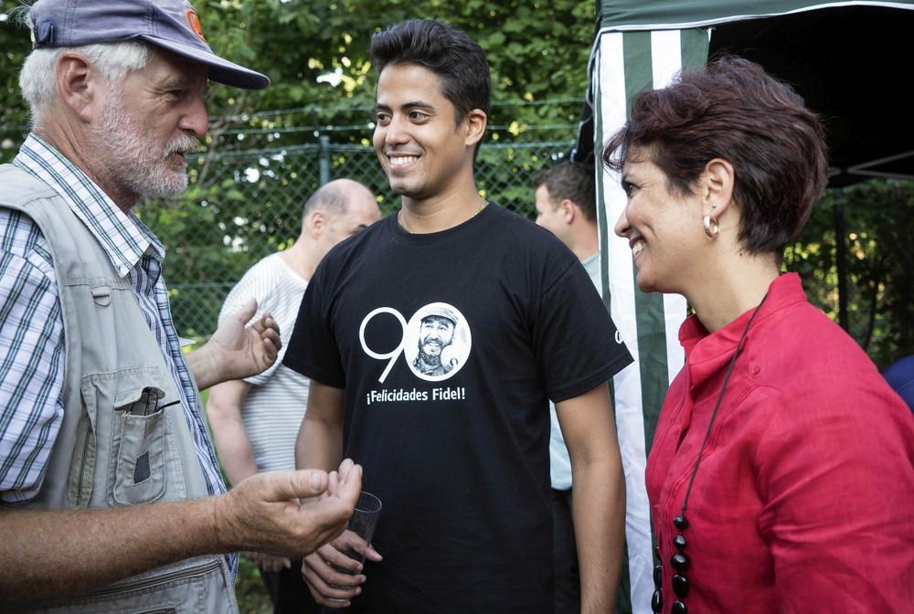 Fest am 13. August zu Ehren des Revolutionärs in der Außenstelle der Botschaft der Republik Kuba in Bonn.