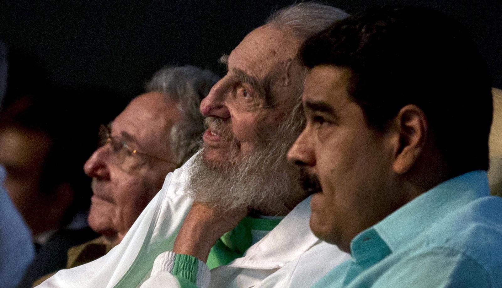 Fidel Castro an seinem 90. Geburtstag im Karl-Marx-Theater in der kubanischen Hauptstadt