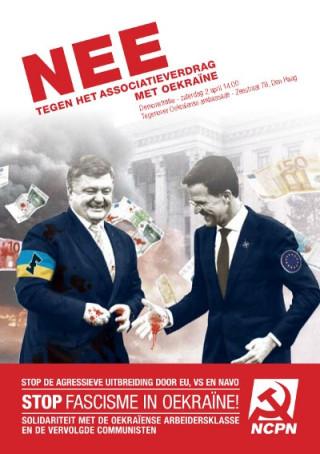 """Ein Flugblatt der Neuen Kommunistischen Partei der Niederlande: """"Stoppt den Faschismus in der Ukraine"""""""