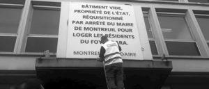 """""""Leeres Gebäude in Staatseigentum, requiriert auf Erlass des Bürgermeisters von Montreuil."""" (Foto: PCF Montreuil)"""