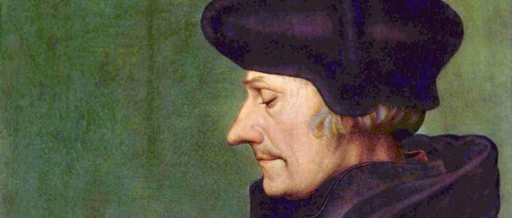 Der Humanist Erasmus von Rotterdam (1466 - 1536) verfasste auch Satiren. Was er wohl über die AfD schreiben würde? (Foto: Gemeinfrei)