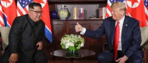 Für Südkoreas Rechte ein Sicherheitsrisiko, für die Wirtschaft Hoffnung auf Profite: das Treffen zwischen Kim und Trump (Foto: Gemeinfrei)