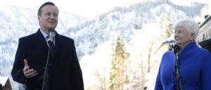 Auch der britische Premier David Cameron unterstützte die CSU in Wildbad Kreuth, mit im Bild Gerda Hasselfeldt, Vorsitzende der CSU-Landesgruppe im Bundestag. (Foto: Number 10/Georgina Coupe/CC BY-NC-ND 2.0)