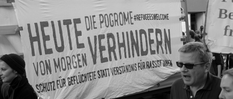 Flüchtlingsproteste in Leipzig. (Foto: Sönke Hundt)