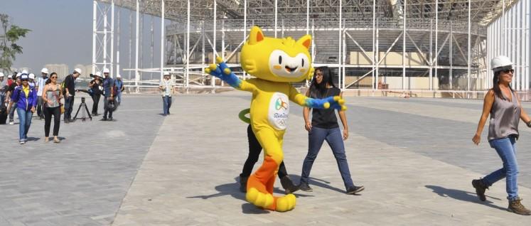 Besuch auf der Baustelle im Olympia-Park in Rio. (Foto: Tânia Rêgo/Agência Brasil/wikimedia.org/)