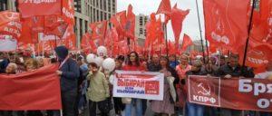 Demonstration der KPRF am vergangenen Samstag in Moskau (Foto: KPRF)