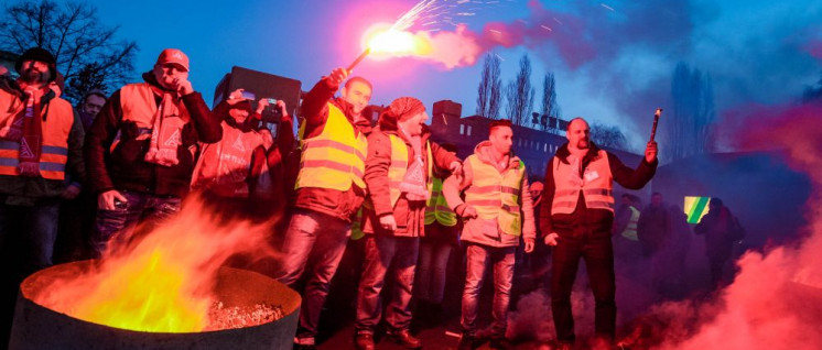 Streikauftakt bei Schwing in Herne am 2. Februar (Foto: Thomas Range)