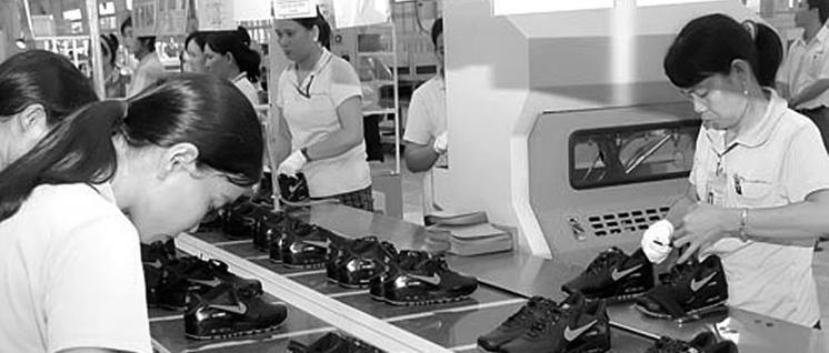 Schuhproduktion in Vietnam (Foto: SGGP)