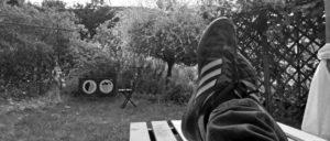 Karls Saisonvorbereitung: Füße hoch mit Blick aufs Westfalenstadion (Foto: Karl Rehnagel)