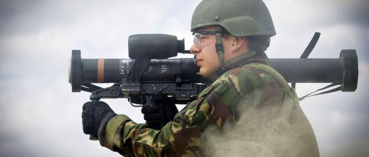 "Panzerfaustschütze beim NATO-Manöver ""Noble Jump"" 2015 in Polen (Foto: [url=https://de.wikipedia.org/wiki/Noble_Jump#/media/File:POLEN_-_NRF-IRF-_VJTF_(18695184239).jpg]MCD/Evert-Jan Daniels[/url])"