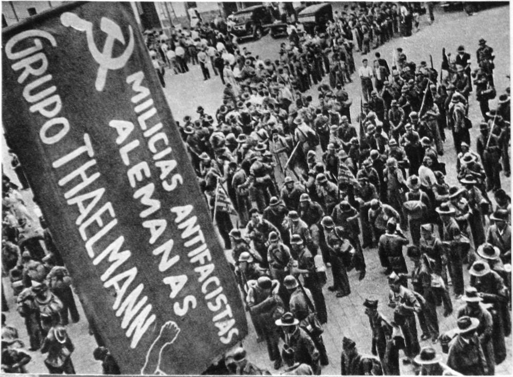 """Kämpfer der Spanischen Republik: """"Grupo Thälmann""""– ein Foto des sowjetischen Schriftstellers Michail Kolzow"""