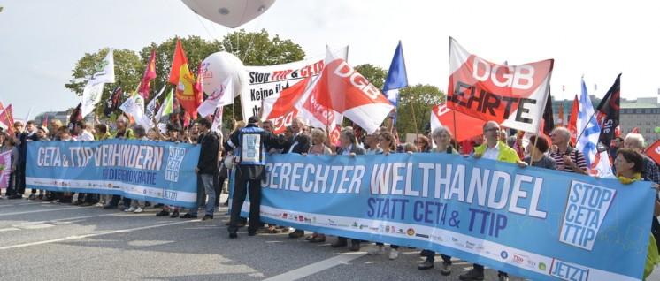 Demonstrationen gegen TTIP und CETA (Foto: Tom Brenner)