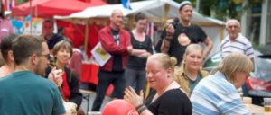 Sommer, Sonne, Sozialismus gab es einen Tag lang in Berlin. (Foto: Gabriele Senft)