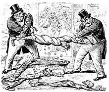 Karikatur der SP der Schweiz – 19. Jahrhundert