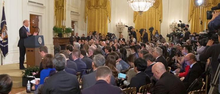 Bei der Presekonferenz nach den Halbzeit-Wahlen versuchte US-Präsident Trump die Ergebnisse als Sieg der Republikaner zu verkaufen. (Foto: Official White House Photo by Shealah Craighead)