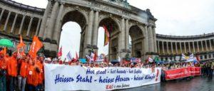 Europäischer Stahlaktionstag, Brüssel, 9.11.2016 (Foto: Thomas Range)