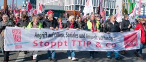 Berlin, 10.10.2015, Demonstration gegen TTIP und CETA (Foto: redpicture)