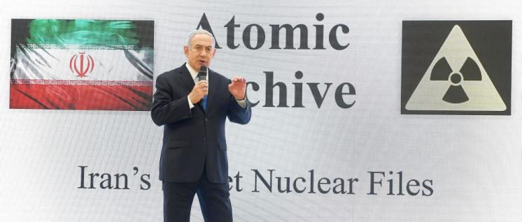 Kriegsvorbereitungen: Netanjahu bei der Pressekonferenz zum iranischen Atomprogramm. (Foto: Amos Ben Gershom, GPO)