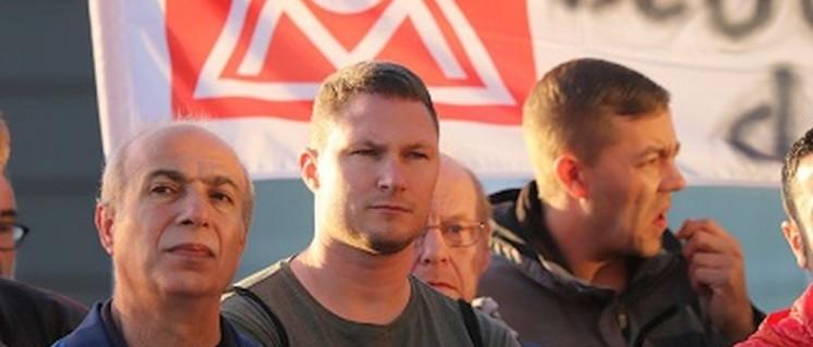 Bereits am 3.Juli und am 29.September 2017 streikten die Kolleginnen und Kollegen bei Seppelfricke (Foto: IGM Gelsenkirchen)