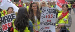 Essen, Mai 2015: Landesweiter Streik im Einzelhandel (Foto: Tom Brenner)