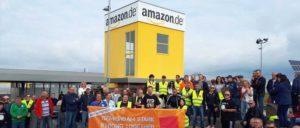 Streik für den Tarifvertrag bei Amazon in Bad Hersfeld (Foto: ver.di)