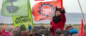 Protest gegen Braunkohleabbau im Hambacher Forst (Foto: Hubert Perschke/ r-mediabase.eu)